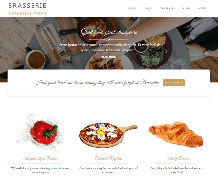 Brasserie - Food WordPress Themes