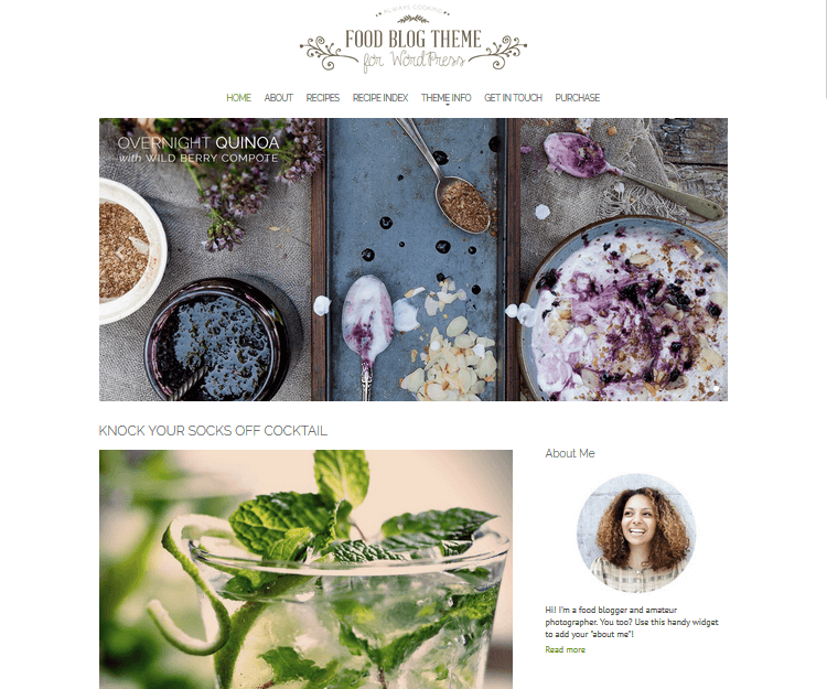 Food Blog - Food WordPress Themes