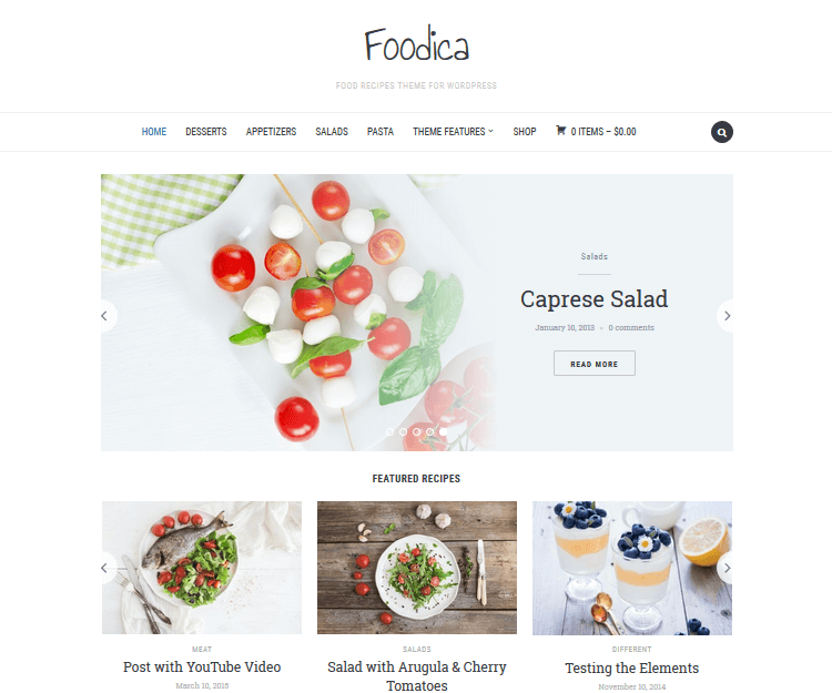 Foodica - Food WordPress Themes