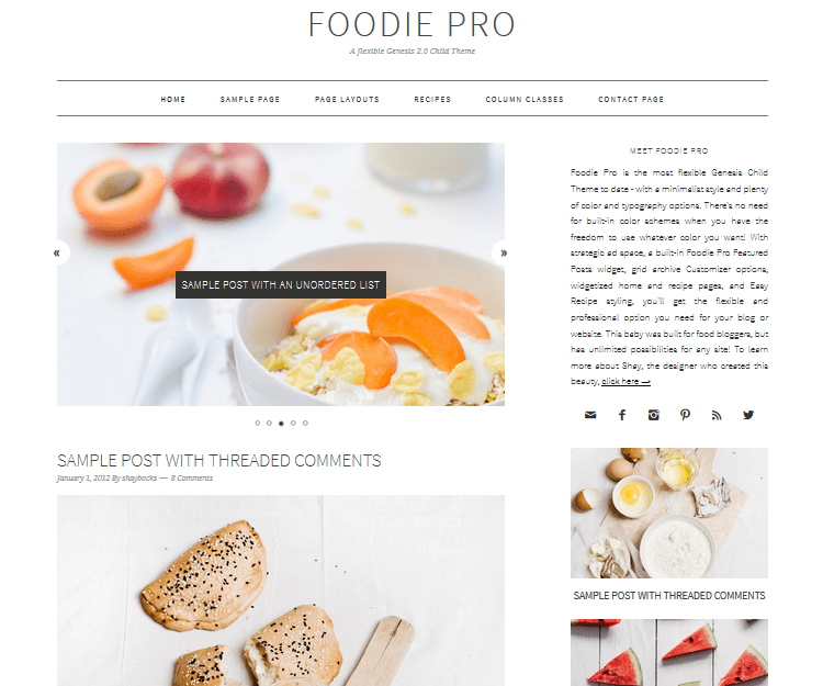 10 of the best wordpress food blog themes 2018 edition foodie pro food wordpress themes forumfinder