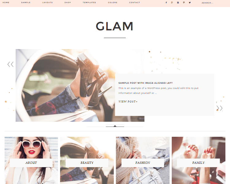 Glam Pro Theme - Fashion WordPress Theme