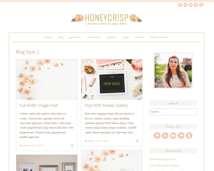 Honeycrisp - Fashion WordPress Theme