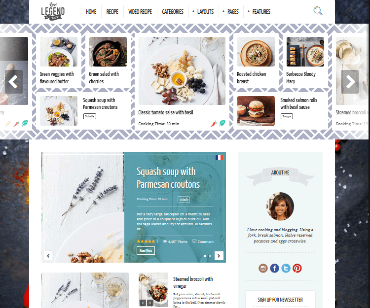 Neptune - Food WordPress Themes