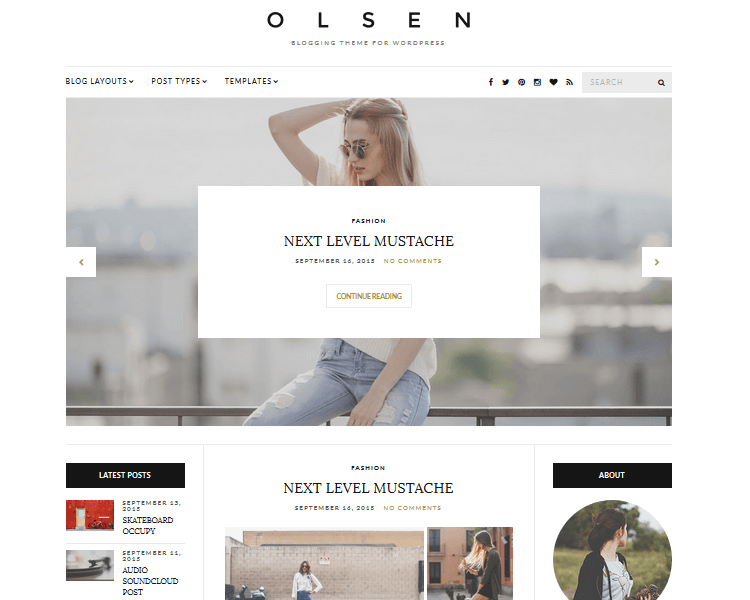 Olsen - Fashion WordPress Theme