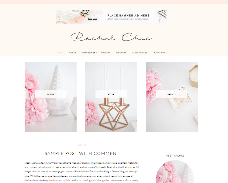 Rachel - Fashion WordPress Theme