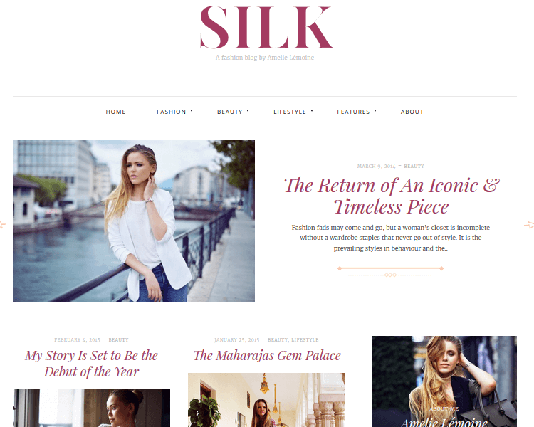 Silk - Fashion WordPress Theme