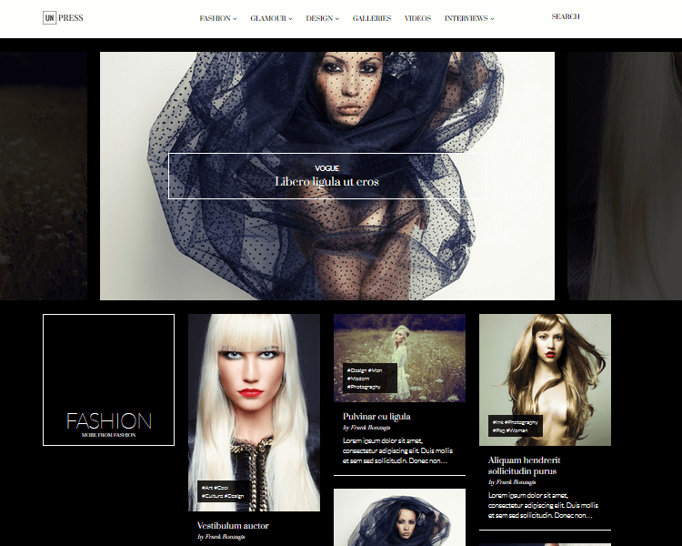 unPress - Fashion WordPress Theme