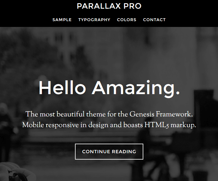 Parallax Pro - Genesis Child Themes