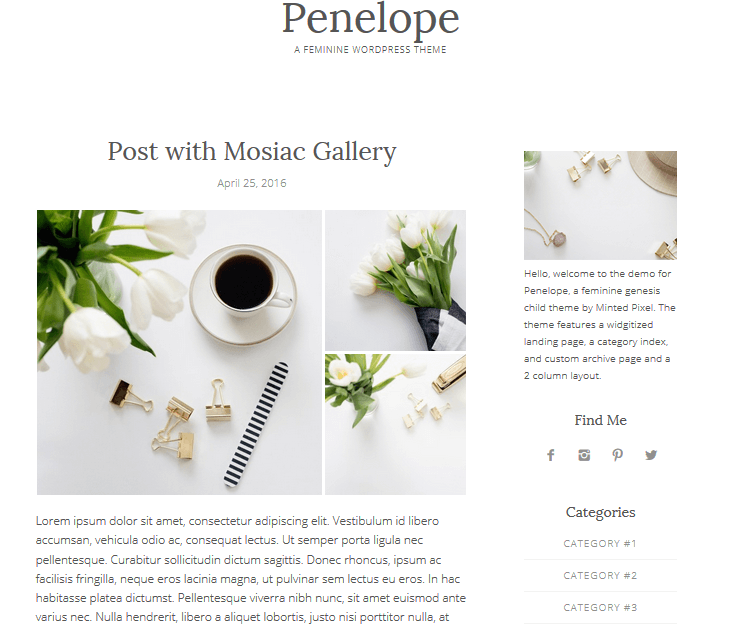 Penelope - Genesis Child Themes