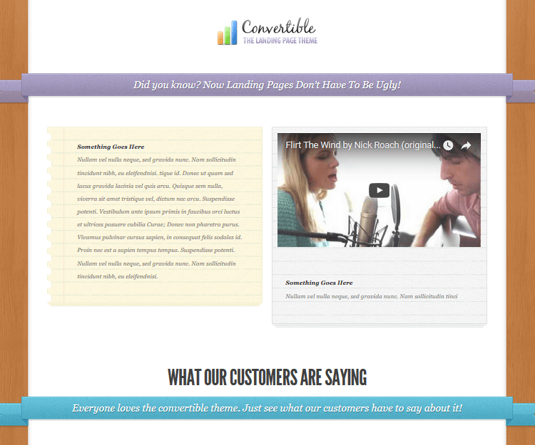 Convertible - WordPress Landing Page Themes