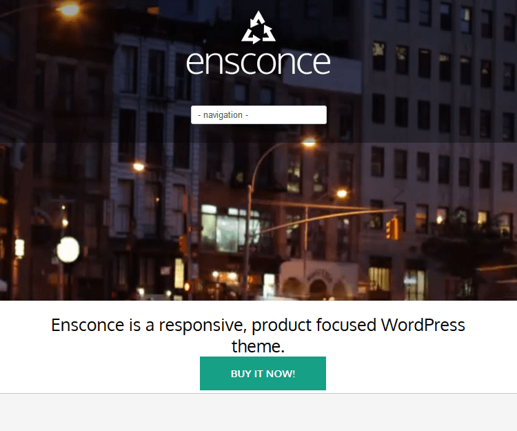 Esconce - WordPress Landing Page Themes