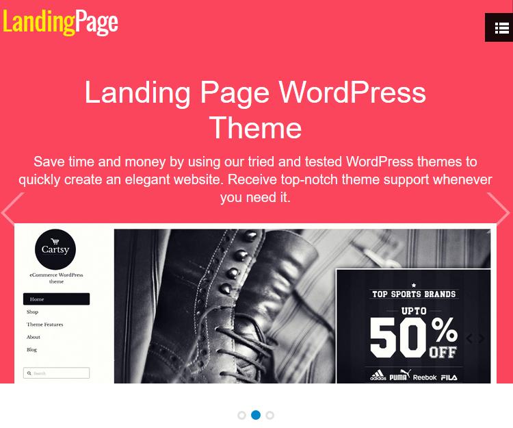Landing Page - WordPress Landing Page Themes