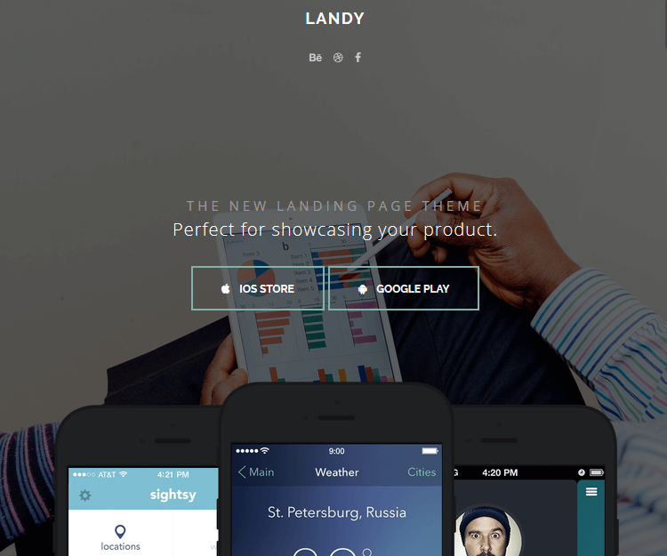 Landy - WordPress Landing Page Themes