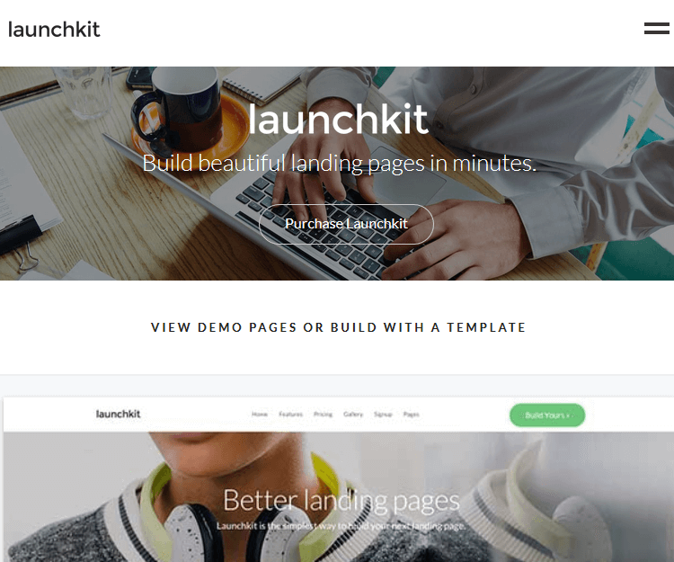 Launchkit - WordPress Landing Page Themes