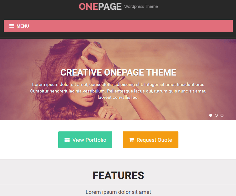 OnePage - WordPress Landing Page Themes