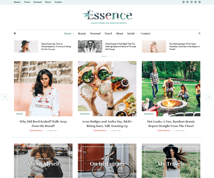 WordPress Food Themes - The Essence