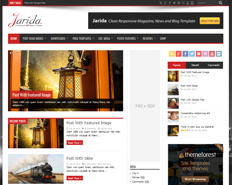 Best WordPress Blogging Themes - Jarida