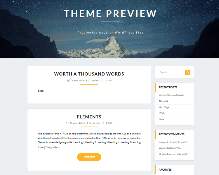Best WordPress Blogging Themes - Lighthouse
