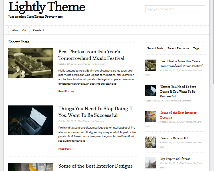Best WordPress Blogging Themes - Lightly