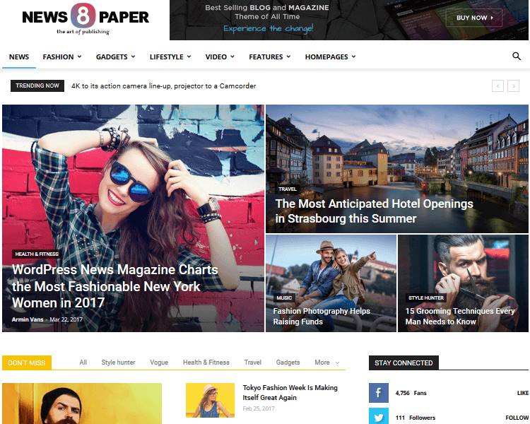 Best WordPress Blogging Themes - Newspaper