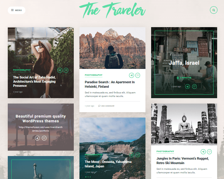 Best WordPress Blogging Themes - The Traveler