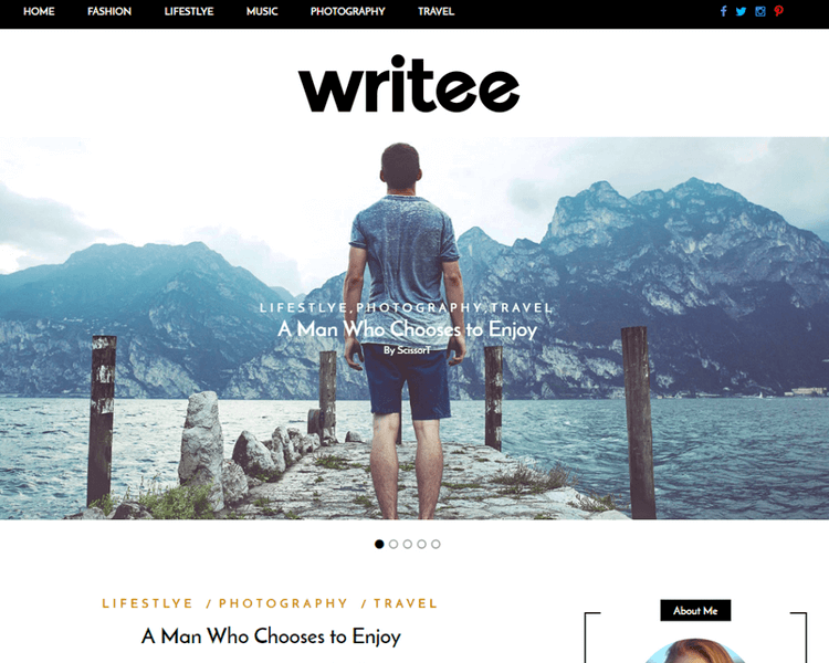 Best WordPress Blogging Themes - Writee