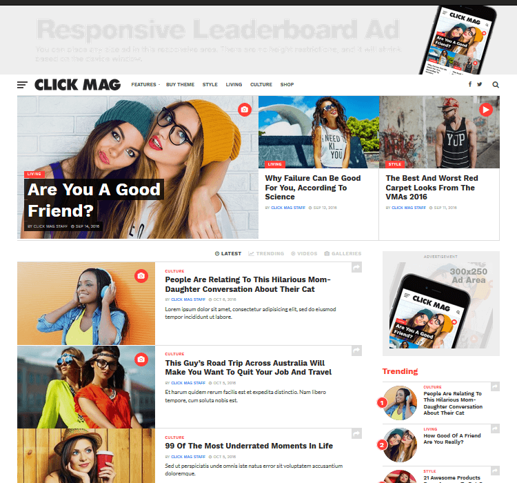 Magazine Themes - Click Mag