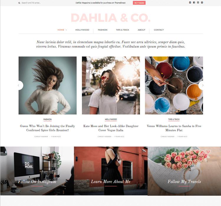 Magazine Themes - Dahlia