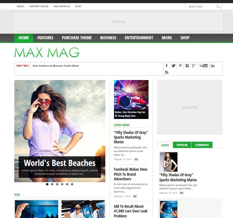 Magazine Themes - Max Mag