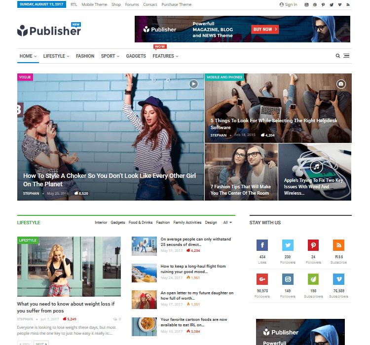 Magazine Themes - Publisher