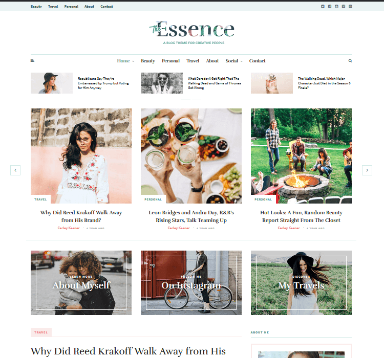 Magazine Themes - The Essence