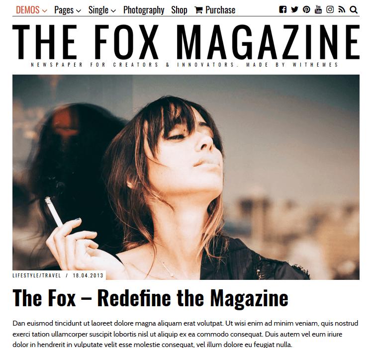Magazine Themes - The Fox