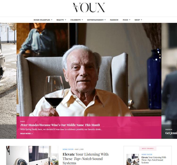 Magazine Themes - The Voux