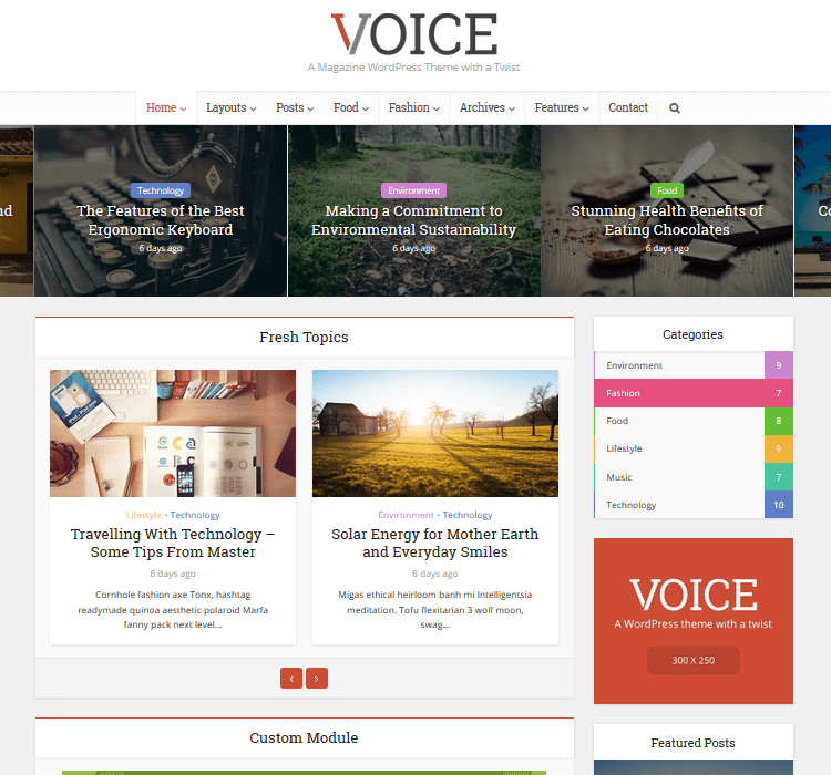 Magazine Themes - Voice